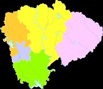 Jingmen - Image: Administrative Division Jingmen