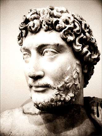 Early life of Marcus Aurelius - Bust of Hadrian (National Archaeological Museum of Athens). The Emperor Hadrian patronized the young Marcus, and may have planned to make him his long-term successor.