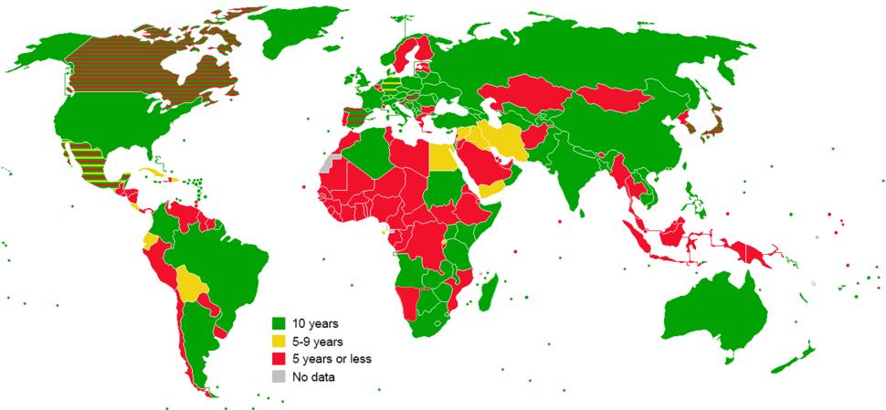 Adult Passport Validity Map