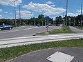 Ady Endre Straße, Straßenbahn-Bahn-Gleis und Bahnübergang, 2021 Hódmezővásárhely.jpg