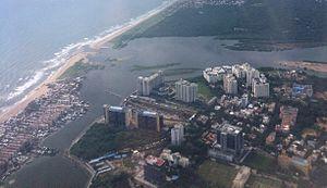 Adyar River - Adyar River joining Bay of Bengal
