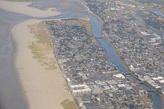 Necanicum River - Image: Aerial View of Seaside, Oregon