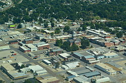 Aerial view of Marshall, Missouri