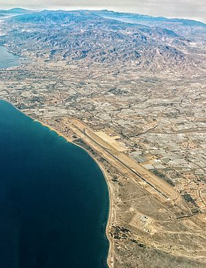 Almería Airport - Aerial view of the airport
