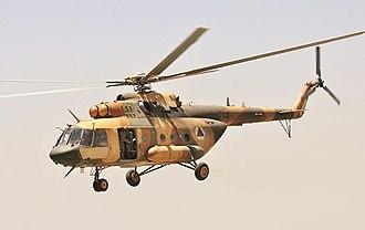 Mil Mi-17 - Image: Afghan Mi 17 (alternate)