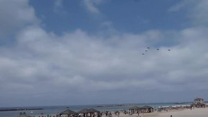 File:Air Force Fly By on Tel Aviv Beach P1140143.ogv