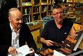Alan Stivell et Laurent Bourdelas en signature à Rennes 2012.JPG