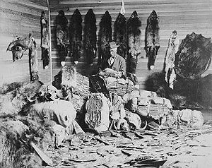 North American fur trade - A fur trader in Fort Chipewyan, Alberta in the 1890s.