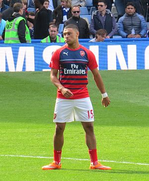 Alex Oxlade-Chamberlain - Oxlade-Chamberlain warming up for Arsenal in 2014