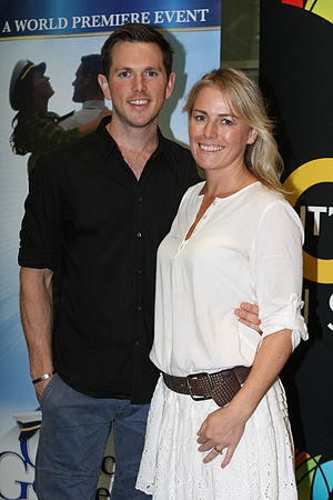 Kate Kendall - Kendall with co-star Alex Rathgeber at a rehearsal for An Officer and a Gentleman