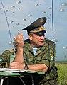 Alexander Lentsov supervising a paradrop.jpg