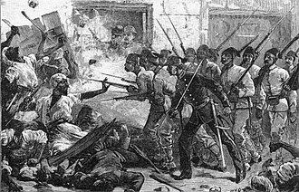 Egyptian Lever - Anti-European riots in Alexandria, as depicted by the Canadian Illustrated News