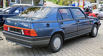 Alfa Romeo 75 - Rear view of Alfa Romeo 75
