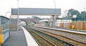 Alfreton railway station - Image: Alfreton & Mansfield Parkway, newly reopened station 1973 (geograph 5038555)