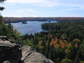 Ontario - Algonquin Provincial Park, Cache Lake in the autumn of 2006.