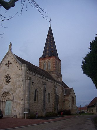 Allériot - The church in Allériot