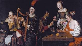 Herman van Aldewereld - Allegory on the five senses (1651)