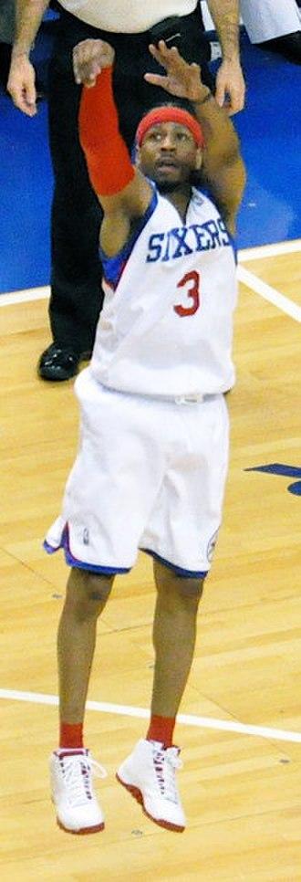 Allen Iverson - Iverson shoots a jump shot in 2010
