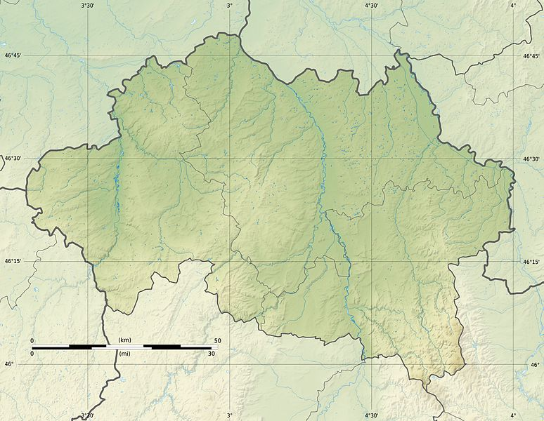 Fichier:Allier department relief location map.jpg