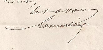 Alphonse de Lamartine - Image: Alphonse de Lamartine signing