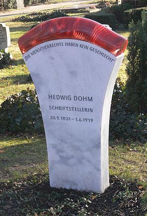 Hedwig Dohm - Tomb at Alter St.-Matthäus-Kirchhof