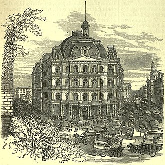 Alfred B. Mullett - City Hall Post Office and Courthouse, Broadway, Manhattan, NY