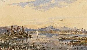 Infanta Amelia Philippina of Spain - German landscape painted by Infanta Amalia