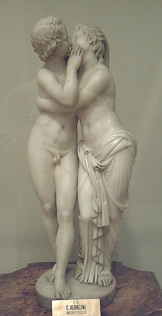 Ode to Psyche - Amor and Psyche, sculpted in marble during the late 18th century