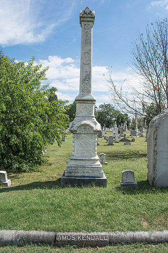 Amos Kendall - Grave of Amos Kendall at Glenwood Cemetery