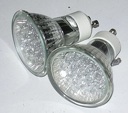 Spotlights made of many individual LEDs