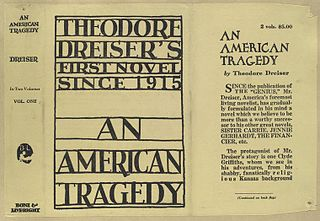 <i>An American Tragedy</i> Novel by Theodore Dreiser