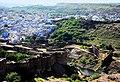 An aerial view of the vicinity of Meherangarh fort entrance, Jodhpur.jpg
