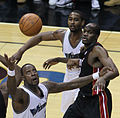Andray Blatche, HIlton Armstrong and Joel Anthony.jpg