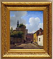 Andreas Schelfhout (1787-1870), Straatje in Huy, België, ca 1824, Olieverf op paneel.JPG