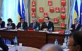 Andrei Dolineaschi, Liviu Dragnea si Victor Ponta la reuniunea BPN al PSD - 20.01.2014 (2) (12049503354).jpg