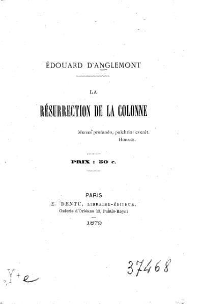 File:Anglemont - La Résurrection de la Colonne, 1872.djvu