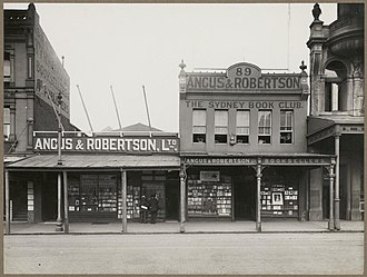 Angus & Robertson - Angus and Robertson booksellers, 89 Castlereagh Street, Sydney, 1915.
