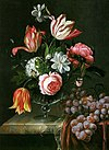 Anna Ruysch - Tulips and Roses in a Vase on a Marble Table.jpg