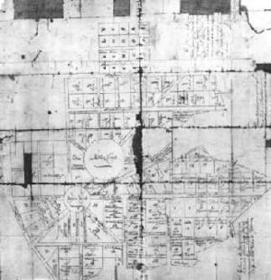 Francis Nicholson - The earliest known map of Annapolis, a 1743 copy of a 1718 map
