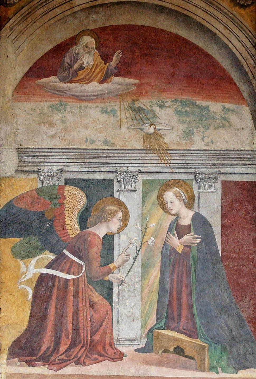 Annunciation Melozzo da Forli Pantheon