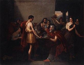 Aegeus - Thésée reconnu par son père by Antoine-Placide Gibert (1832)