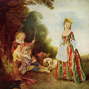 Gerrit Braamcamp - The Dance by Antoine Watteau, owned by Braamcamp