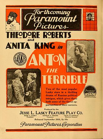 Anton the Terrible - contemporary advertisement