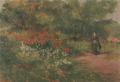 AokiShigeru-1902-Girl Standing in Flower Garden.png
