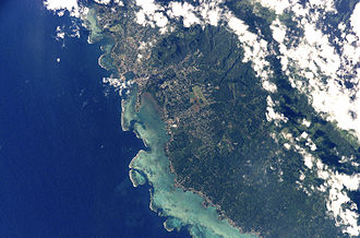 Apia - Orbital view of Apia (2002-06-16, from STS-111).