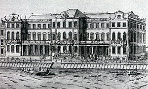 "Fyodor Apraksin - Apraksin Palace in St Petersburg was constructed to a design by Jean-Baptiste Le Blond in 1717-1725. Foreign visitors admitted that ""even a king would have been jealous of such a noble dwelling"". Several decades later, the palace was demolished to make room for the Winter Palace, which now occupies the spot"