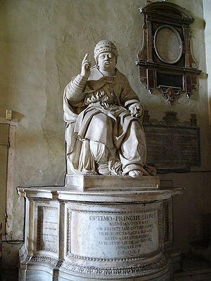 Pope Leo X - Statue of Leo X in the church of Santa Maria in Aracoeli, Rome
