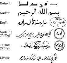 Einige formen der arabischen schrift