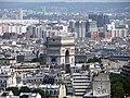 Arc de Triomphe from the Eiffel Tower, Paris June 2014 001.jpg
