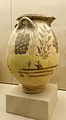 Archaeological site of Akrotiri - Museum of prehistoric Thera - Santorini - neolithic pottery - vase with floral decoration - 06.jpg